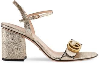 0c0b410fcff0 Gucci Metallic laminate leather mid-heel sandal