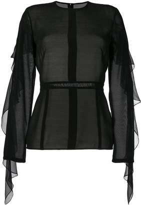 Victoria Beckham ruffle sleeved blouse