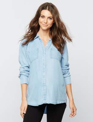 Splendid Pea Collection Denim Maternity Shirt