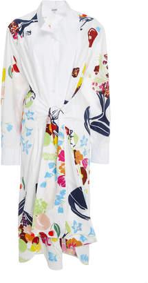 Loewe Asymmetrical Tie Front Shirtdress