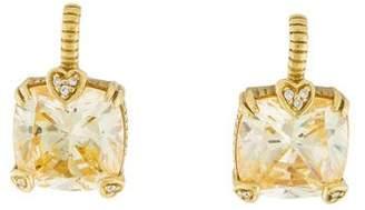 Judith Ripka 18K Canary Crystal & Diamond Lola Drop Earrings