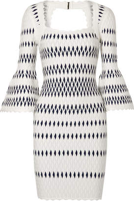 Herve Leger Stretch Jacquard-knit Dress