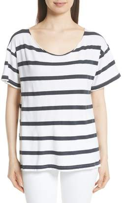 The Great Stripe Cut Neck Tee