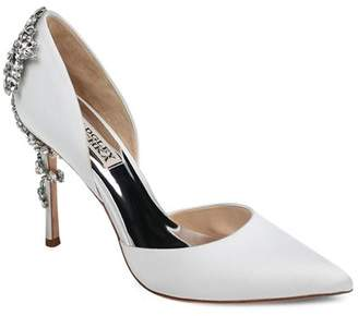 Badgley Mischka Women's Vogue Pointed Toe Satin High-Heel Pumps
