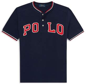 Polo Ralph Lauren Boys' Cotton Mesh Henley Shirt - Big Kid