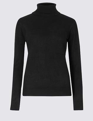 "Marks and Spencer Cashmilonâ""¢ Roll Neck Jumper"