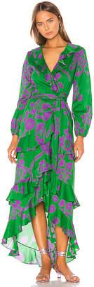 Cynthia Rowley Lanai Ruffle Wrap Dress