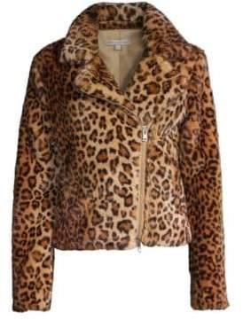 Rebecca Minkoff Hudson Leopard Faux Calf Hair Jacket