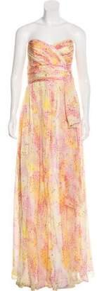 Marchesa Silk Maxi Dress w/ Tags