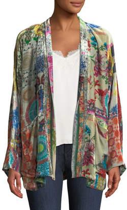 Johnny Was GG Velvet Kimono Jacket