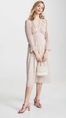 Rebecca Taylor Long Sleeve Francesca V Neck Dress