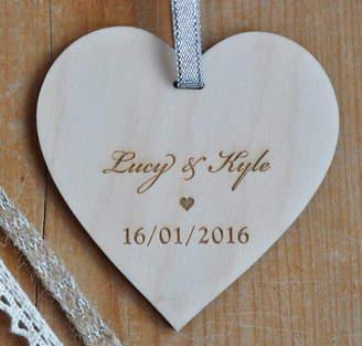Sweet Pea Design Special Date Hanging Wooden Heart