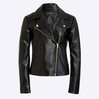 J.Crew Faux-leather moto jacket