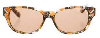 Kenzo Narrow Tortoise Sunglasses