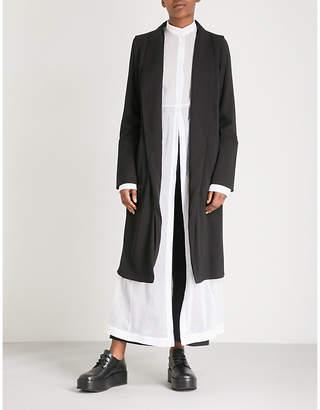 Isabel Benenato Belted silk trench coat