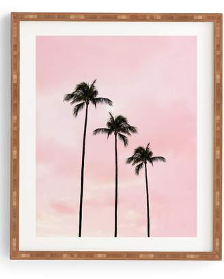Deny Designs Palm Trees & Sunset Framed Wall Art
