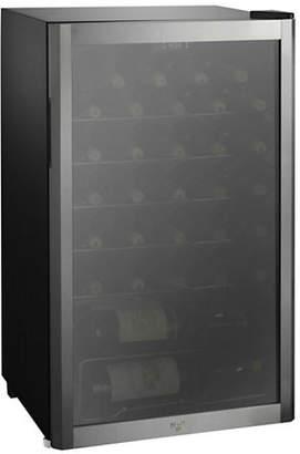 KOOLATRON Whirlpool 35 Bottle Mirrored Glass Door Wine Cooler WHW36S