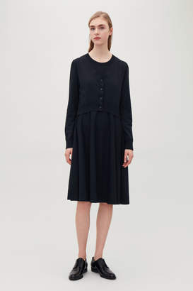 Cos LAYERED KNITTED DRESS