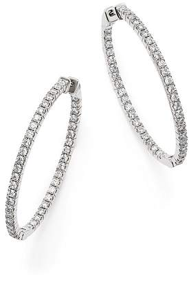 Bloomingdale's Diamond Inside Out Oval Hoop Earrings in 14K White Gold, 1.75 ct. t.w. - 100% Exclusive