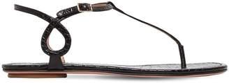 Aquazzura 75mm Almost Bare Leather Sandals