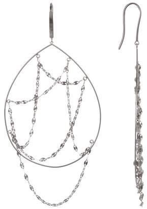 Lana 14K White Gold Oval Earrings