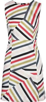 Milly Striped Satin-twill Mini Dress
