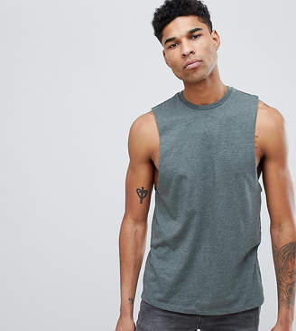 Asos DESIGN Tall tank with dropped arm hole in green