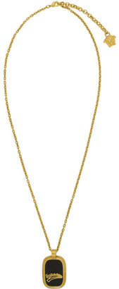 Gold Varsity Dog Tag Necklace