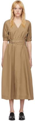 3.1 Phillip Lim Tan Puff Sleeve Belt Dress