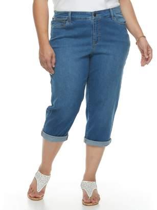 Croft & Barrow Plus Size Cuffed Crop Jeans