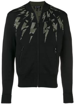 Neil Barrett thunderbolt zip-up jacket