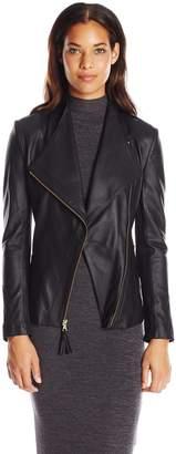 Via Spiga Women's Real Lightweight Leather Ponte Jacket