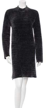 Maison Margiela Rib Knit Mini Dress