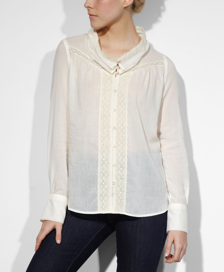 Levi's Lace Cowl Neck Shirt