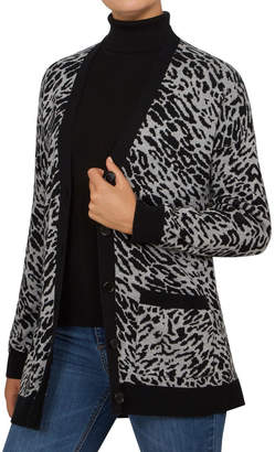 French Connection Grey Animal Cardigan