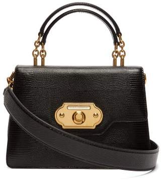Dolce & Gabbana Welcome Iguana Effect Leather Bag - Womens - Black