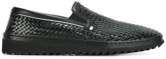 Dolce & Gabbana woven slip-on sneakers