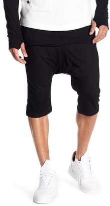 Hip & Bone Mesh Layered Harem Shorts