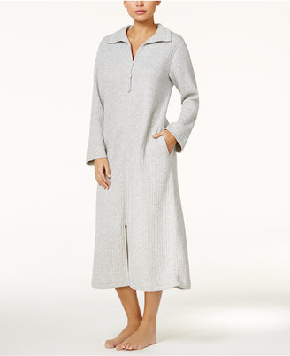 Miss Elaine Spread Collar Zip-Front Long Robe $86 thestylecure.com