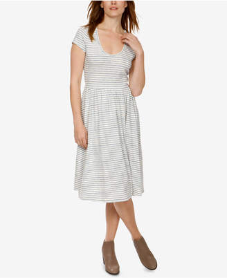 Lucky Brand Cotton Cutout Fit & Flare Dress