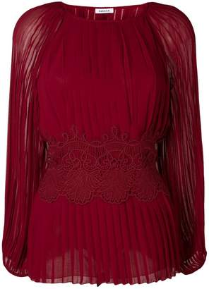 P.A.R.O.S.H. lace bodice pleated top