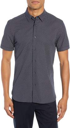 Ted Baker Slim Fit Foresth Diamond Pattern Woven Shirt