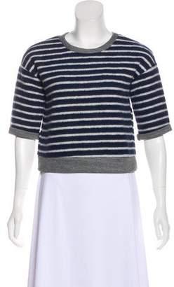 Frame Striped Scoop Neck Sweatshirt