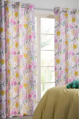 Next Pastel Floral Blackout Eyelet Curtains - Pink