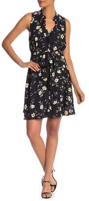 Rachel Roy Brit Floral Waist Tie Shift Dress