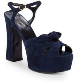 Saint Laurent Candy Viola Leather Sandals