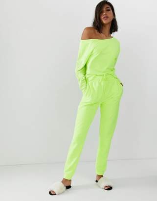 Asos Design DESIGN lounge neon legging jogger