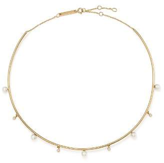 """Chicco Zoë 14K Yellow Gold Cultured Freshwater Pearl & Diamond Wire Choker, 17.5"""""""