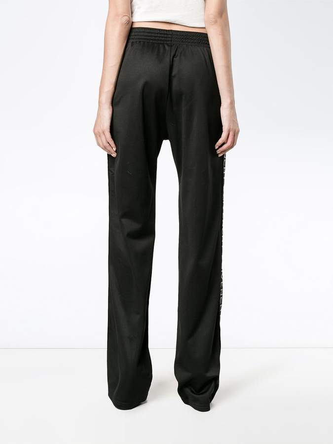 Givenchy Black logo stripe track pants
