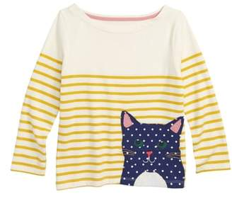 Boden Mini Applique Breton Shirt